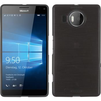 Silicone Case for Microsoft Lumia 950 XL brushed silver