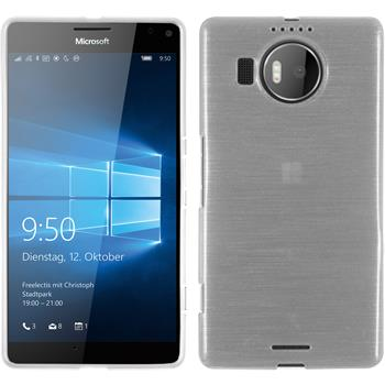 Silicone Case for Microsoft Lumia 950 XL brushed white