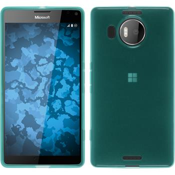Silicone Case for Microsoft Lumia 950 XL transparent turquoise