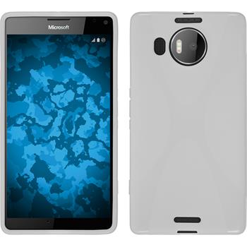 Silicone Case for Microsoft Lumia 950 XL X-Style white