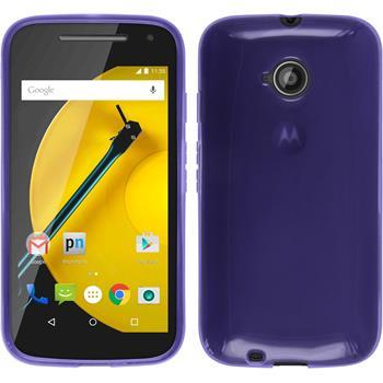 Silicone Case for Motorola Moto E 2015 2. Generation transparent purple
