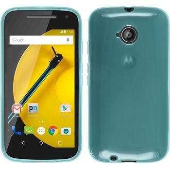 Silicone Case for Motorola Moto E 2015 2. Generation transparent turquoise