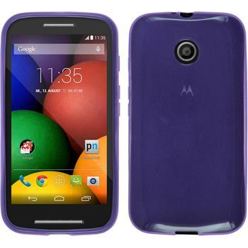 Silicone Case for Motorola Moto E transparent purple