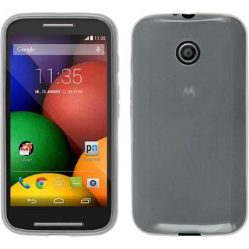 Silicone Case for Motorola Moto E transparent white