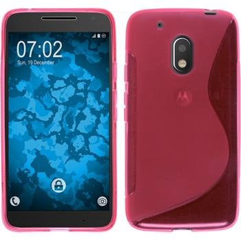 Silicone Case for Motorola Moto G4 Play S-Style hot pink