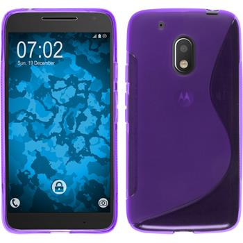 Silicone Case for Motorola Moto G4 Play S-Style purple