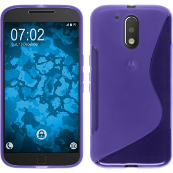 Silicone Case for Motorola Moto G4 Plus S-Style purple