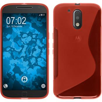 Silicone Case for Motorola Moto G4 Plus S-Style red