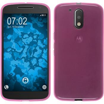 Silicone Case for Motorola Moto G4 transparent pink