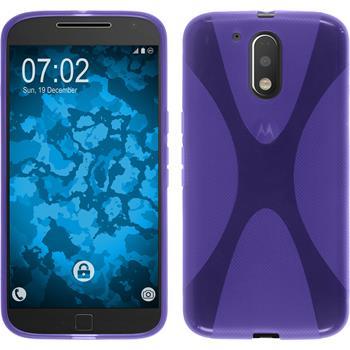 Silicone Case for Motorola Moto G4 X-Style purple