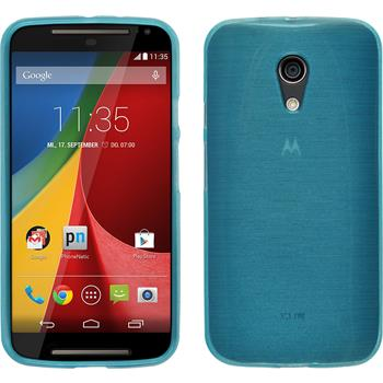 Silicone Case for Motorola Moto G 2014 2. Generation brushed blue