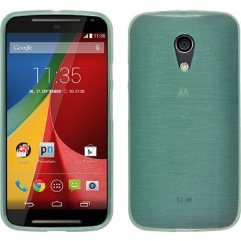 Silicone Case for Motorola Moto G 2014 2. Generation brushed green