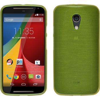 Silicone Case for Motorola Moto G 2014 2. Generation brushed pastel green