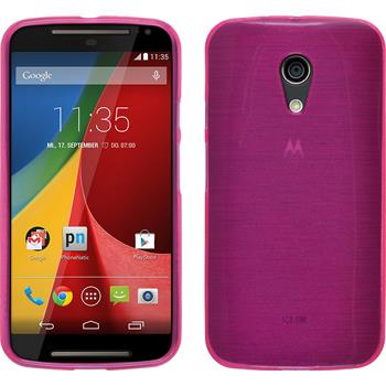 Silicone Case for Motorola Moto G 2014 2. Generation brushed pink