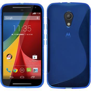 Silicone Case for Motorola Moto G 2014 2. Generation S-Style blue