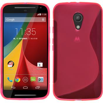 Silicone Case for Motorola Moto G 2014 2. Generation S-Style hot pink