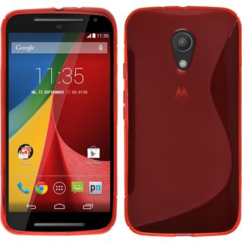 Silicone Case for Motorola Moto G 2014 2. Generation S-Style red