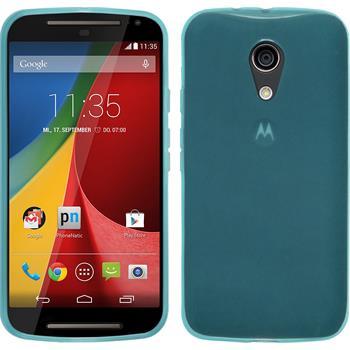 Silicone Case for Motorola Moto G 2014 2. Generation transparent turquoise