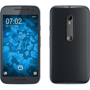 Silicone Case for Motorola Moto G 2015 3. Generation 360° Fullbody light blue