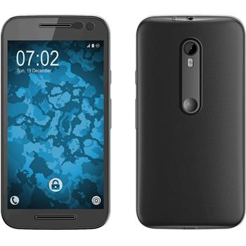 Silicone Case for Motorola Moto G 2015 3. Generation 360° Fullbody transparent