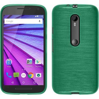 Silicone Case for Motorola Moto G 2015 3. Generation brushed green