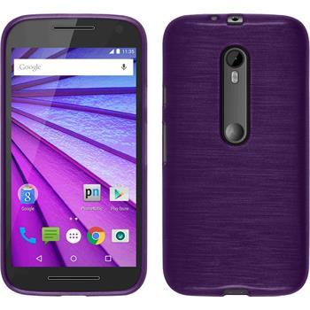 Silicone Case for Motorola Moto G 2015 3. Generation brushed purple