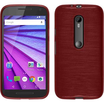 Silicone Case for Motorola Moto G 2015 3. Generation brushed red