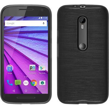 Silicone Case for Motorola Moto G 2015 3. Generation brushed silver