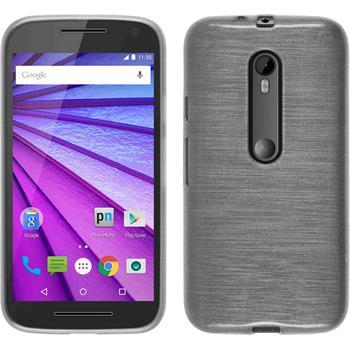 Silicone Case for Motorola Moto G 2015 3. Generation brushed white