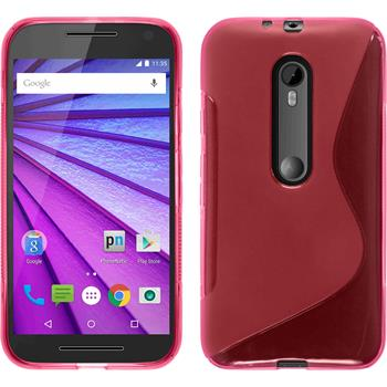 Silicone Case for Motorola Moto G 2015 3. Generation S-Style hot pink