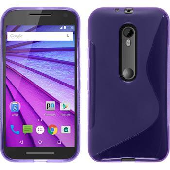 Silicone Case for Motorola Moto G 2015 3. Generation S-Style purple