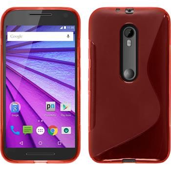 Silicone Case for Motorola Moto G 2015 3. Generation S-Style red