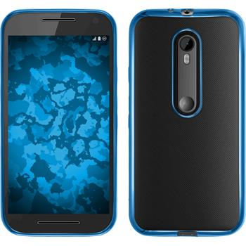 Silicone Case for Motorola Moto G 2015 3. Generation Slim Fit blue