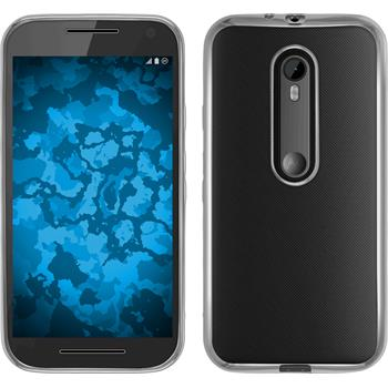 Silicone Case for Motorola Moto G 2015 3. Generation Slim Fit silver