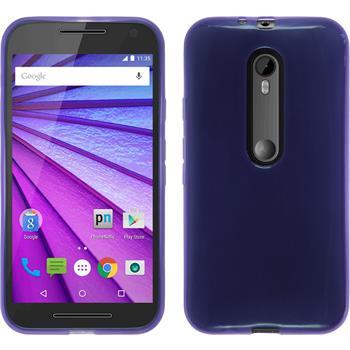 Silicone Case for Motorola Moto G 2015 3. Generation transparent purple