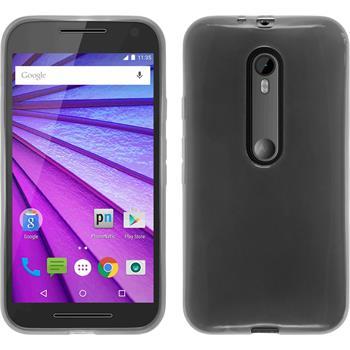 Silicone Case for Motorola Moto G 2015 3. Generation transparent white