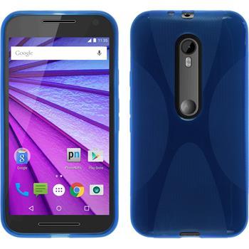 Silicone Case for Motorola Moto G 2015 3. Generation X-Style blue