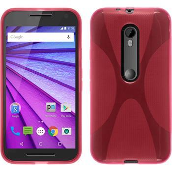 Silicone Case for Motorola Moto G 2015 3. Generation X-Style hot pink