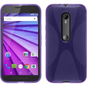 Silicone Case for Motorola Moto G 2015 3. Generation X-Style purple