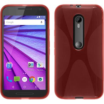 Silicone Case for Motorola Moto G 2015 3. Generation X-Style red