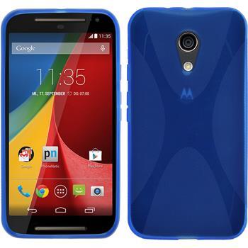 Silicone Case for Motorola Moto G 2014 2. Generation X-Style blue