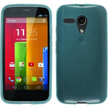 Silicone Case for Motorola Moto G transparent turquoise