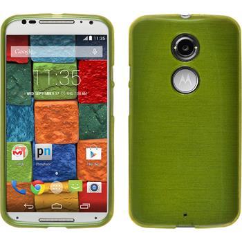 Silicone Case for Motorola Moto X 2014 2. Generation brushed pastel green