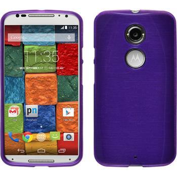Silicone Case for Motorola Moto X 2014 2. Generation brushed purple