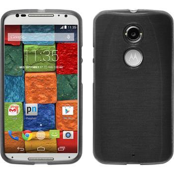 Silicone Case for Motorola Moto X 2014 2. Generation brushed silver