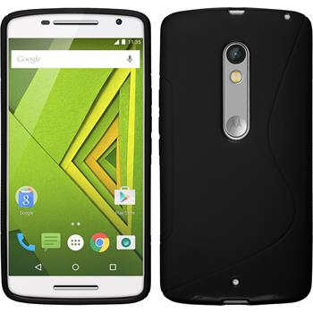 Silicone Case for Motorola Moto X Play S-Style black