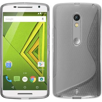 Silicone Case for Motorola Moto X Play S-Style gray