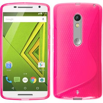 Silicone Case for Motorola Moto X Play S-Style hot pink