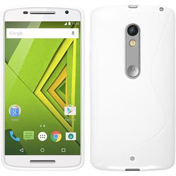 Silicone Case for Motorola Moto X Play S-Style white