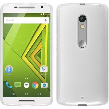 Silicone Case for Motorola Moto X Play transparent white